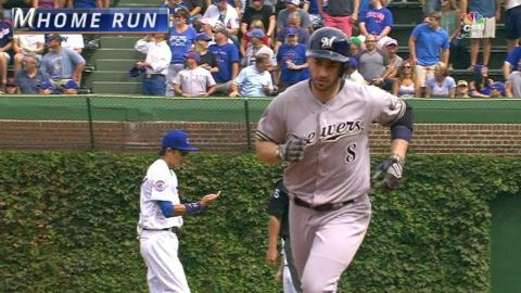 MIL@CHC: Braun mashes home run to center field