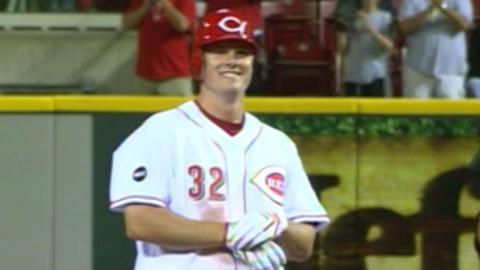 Jay Bruce goes 3-for-3 with two RBIs in his debut
