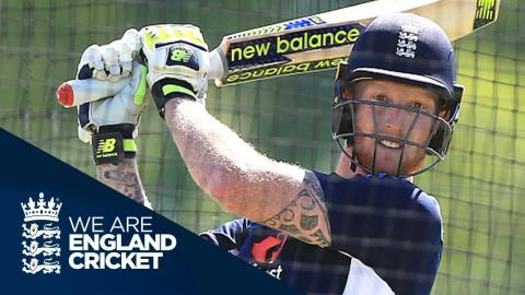 Ben Stokes Batting In The Nets