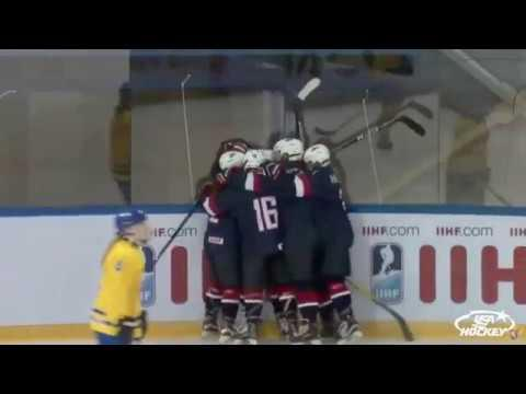 2018 U18WWC Highlights - USA 2, Sweden 1