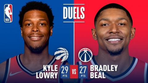 Bradley Beal and Kyle Lowry Battle It Out In D.C.