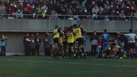 Suntory celebrate top league championship win!