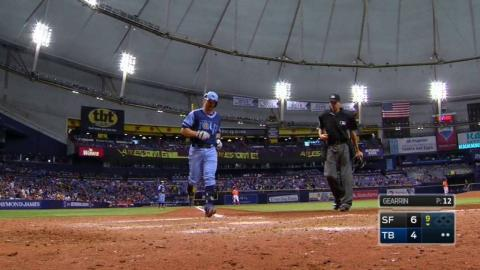 SF@TB: Forsythe hits a solo home run in the 9th