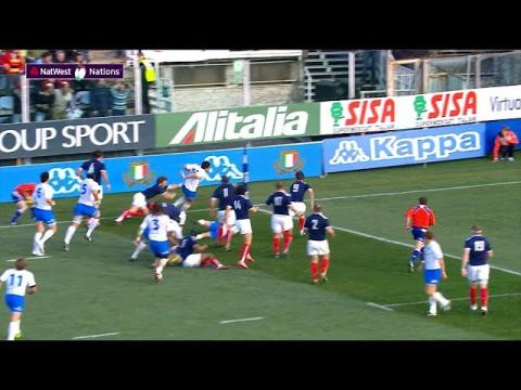 Masi scores team try in the corner! | NatWest 6 Nations