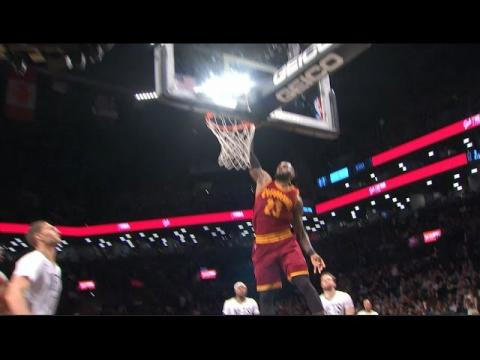 Love Finds LeBron for the Jam in Brooklyn | 01.06.17