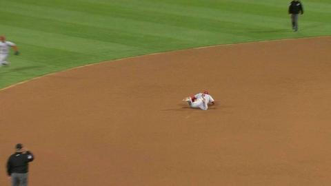 LAA@OAK: Freese lays out at third to rob Reddick