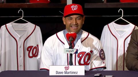 Martinez is introduced as the Nationals manager