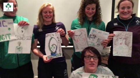 Irish Rugby TV: Ireland Women's Mascot Competition v England On St. Patrick's Day