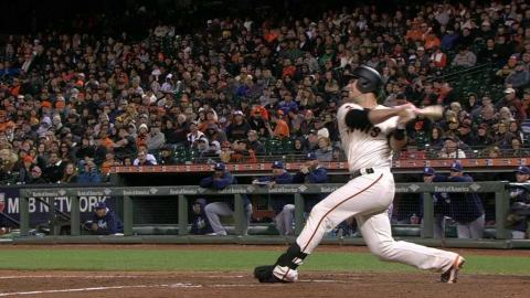 SD@SF: Posey hammers a solo shot to left field