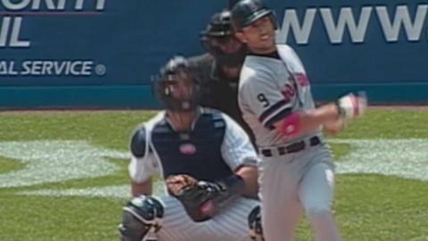 BOS@NYY: Garciaparra homers twice off Weaver