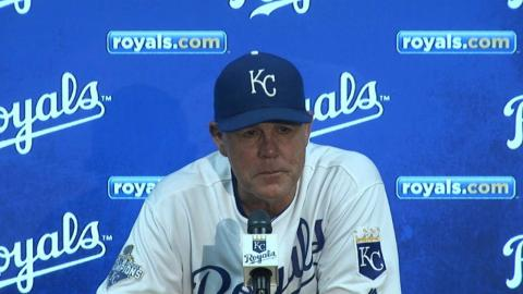 MIN@KC: Yost on Gee's performance in the 8-1 win