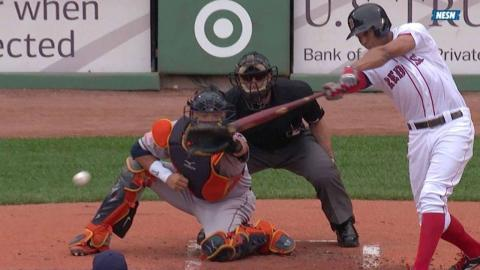HOU@BOS: Bogaerts drives in the first run on a single