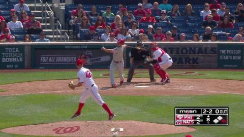 PHI@WSH: Blanton stikes out Stassi in the 8th