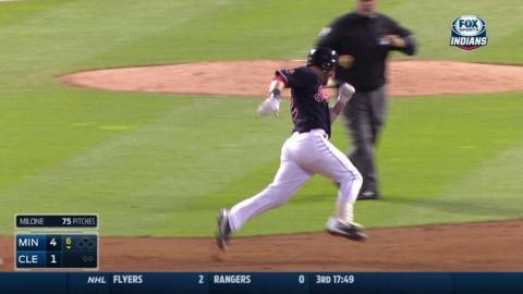 MIN@CLE: Kipnis triples to lead off the 6th inning