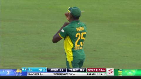 South Africa vs Sri Lanka - 5th ODI - Sandun Weerakkody Wicket