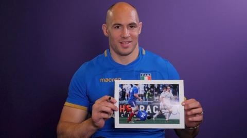 Competition: Win a signed Sergio Parisse photo from 2013!   NatWest 6 Nations