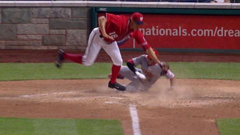 CIN@WSH: Reds break tie with five runs in 10th inning