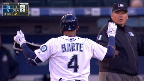 TB@SEA: Marte delivers four hits, game-winning homer