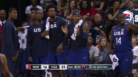 Highlights of USA Men's National Team's 110-66 Win Over Nigeria