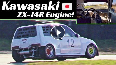 200hp Fiat 500 Kawasaki Proto Zx 14r Engine Swap Onboard Actions