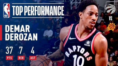 DeMar DeRozan Scores 37 Pts in Victory Over the Suns | December 13, 2017