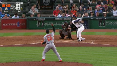 BAL@HOU: Marisnick earns ground-rule double after