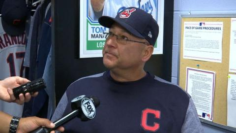 CLE@KC: Francona on Kluber, Bruce in win over Royals