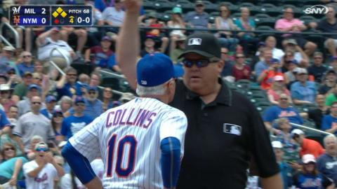 MIL@NYM: Collins gets tossed after arguing call