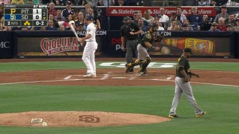 PIT@SD: Liriano fans Myers, leaves the bases loaded