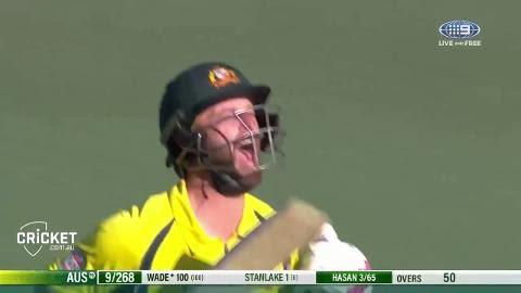 Wade hits top form with maiden ODI century