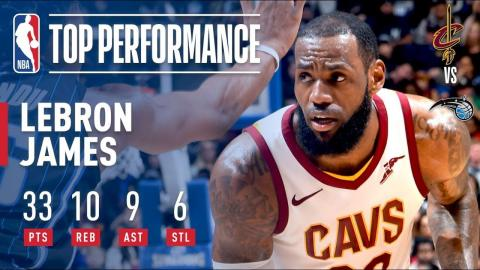 LeBron James Has Near Triple-Double (33/10/9) vs. Magic | January 6, 2018