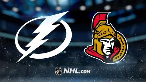 Anderson, Dzingel lead Senators past Lightning, 6-3