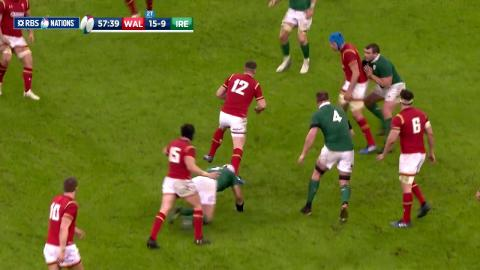 Prop Rob Evans throws sublime skip pass to set up attack!  | RBS 6 Nations