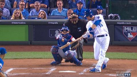 ALCS Gm6: Zobrist hammers a solo shot to open scoring