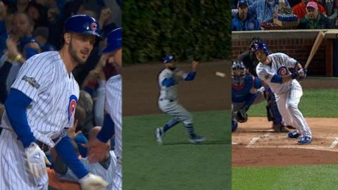 NLCS Gm6: Cubs score two runs in the 1st inning