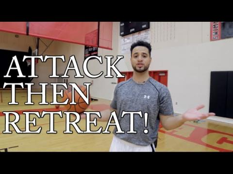 How To: Basketball Moves & Drills For Beginners! ATTACK THEN RETREAT!