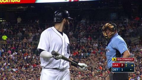 LAA@DET: J.D. Martinez ejected after strikeout in 6th