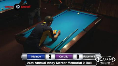 #26 • Dennis ORCULLO vs Warren KIAMCO • 2016 Andy Mercer 9-Ball