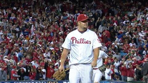 2008 WS Gm4: Blanton fans seven and hits a homer