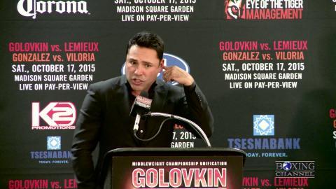 "De La Hoya on Luis Ortiz ""He Wants To Knock You Out"""