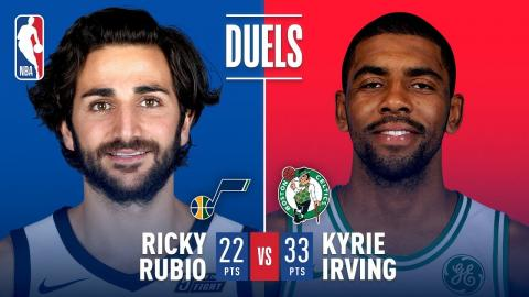 Kyrie Irving (33 Pts) and Ricky Rubio (22 Pts) Duel in Boston | December 15, 2017