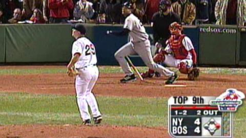 2004 ALCS Gm 5: Clark's hit goes out of play