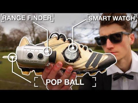 CRAZY GADGET FOOTBALL BOOTS!! (If James Bond Played Football)