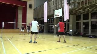 20150503FUMA Badminton Club MD北極熊+致廷vs HUNTER+Yu Tsz Lee