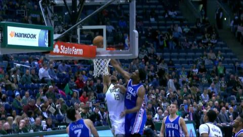 Joel Embiid Rejects Jabar Parker at the Rim | 01.16.17