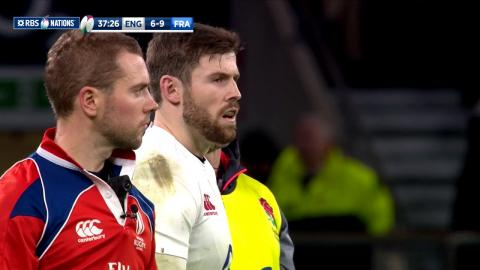 Elliot Daly slots massive penalty to even the score! | RBS 6 Nation