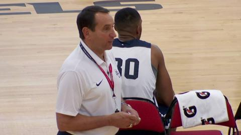Coach K Wired at Training Camp