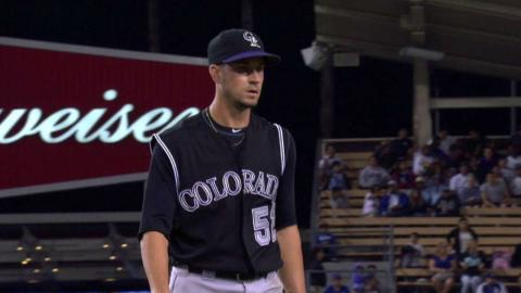 COL@LAD: Rusin fans Pederson to end the frame