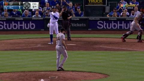 SF@KC: Law strikes out Mondesi swinging in the 9th