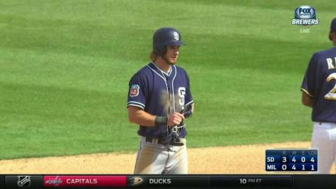 SD@MIL: Jankowski extends lead with RBI single in 3rd